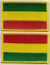 2 EMBROIDERED 2.5w x 4L REGGAE RASTA SEW/IRON ON PATCH FLAG AFRICA BOB M... - $9.99