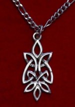 0167 Celtic Knot of Infinity Silver pendant charm wicca - $17.26