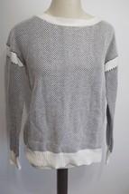 VINCE | Two-Color Jacquard drop-shoulder Sweater sz S $295 — V250575969... - $2.500,80 MXN
