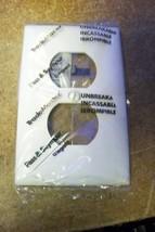 NEW Pass & Seymour Legrand TP8-W Duplex Wall plate 1 Gang Nylon White - $1.19