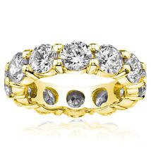 8.00 Ct Moissanite Forever One Full Eternity Common Prong Ring Huge - $3,405.58+