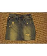 womens american eagle distressed faded medium wash frayed denim jeans sk... - $16.82
