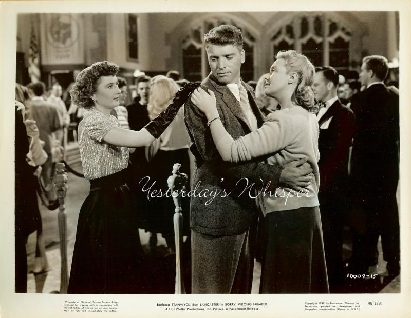 RARE Barbara STANWYCK Ann RICHARDS Sorry WRONG NUMBER Original 1949 Movie Photo