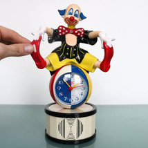 ETIC 50 Alarm Mantel Top!! Clock TALKING! Clown Very Rare! Sound Japan S... - $295.00