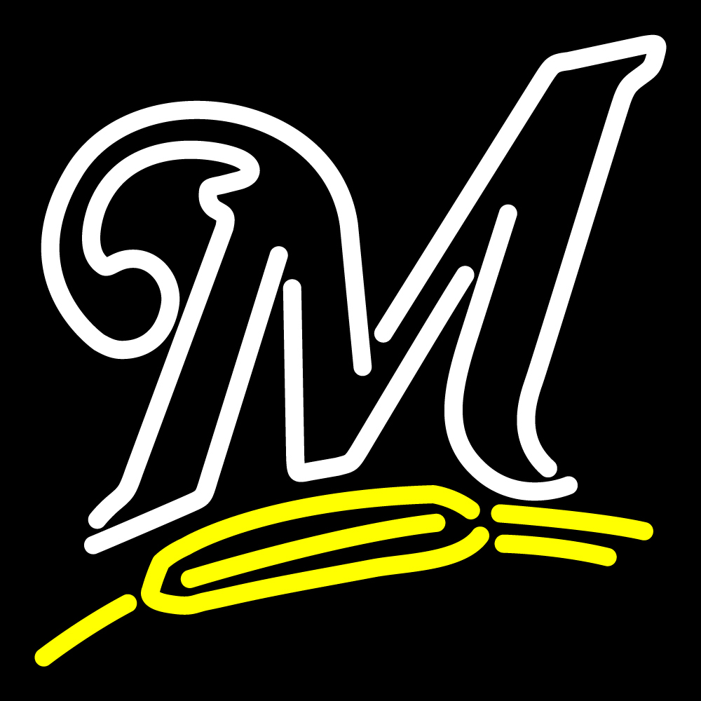 MLB Milwaukee Brewers Logo Neon Sign image 1