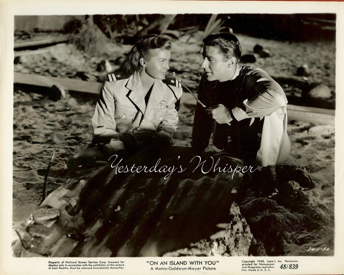RARE Esther WILLIAMS Peter LAWFORD On an ISLAND with You Original 1948 Photo