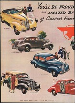 Vintage magazine ad PONTIAC from 1937 Cabriolet Convertible Sedan Coupe 2 page - $14.99