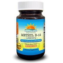 Vitamin B12 Methylcobalamin 1000 mcg Vegan Sublingual Chewable Lozenges from Nat - $19.95