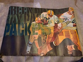 VINTAGE 1972 GREEN BAY PACKERS BARTELL STANCRAFT NFL FOOTBALL TEAM POSTE... - $49.50