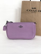 NWT Coach 53077 Nolita 19 Wristlet Pebble Leather Purse Handbag Lily Pur... - £54.89 GBP