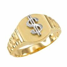 10k Gold Dollar Sign Cash Money Men's Hip-Hop Ring (size 10.5) - $219.99