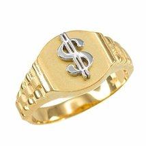 10k Gold Dollar Sign Cash Money Men's Hip-Hop Ring (size 16) - $219.99