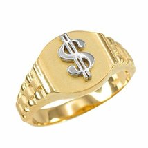 10k Gold Dollar Sign Cash Money Men's Hip-Hop Ring (size 11.5) - $219.99