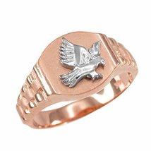 Men's 14k Rose Gold American Eagle Signet Ring Size 6-16 (8.5) - $349.99