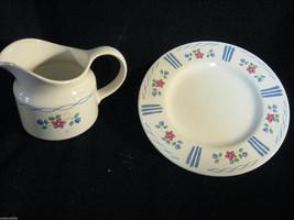 """Pfaltzgraff Bonnie Bree Large Creamer With Large Pour Spout & 8"""" Plate Set Clean - $10.70"""