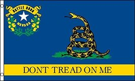 Nevada Dont Tread On Me Gadsden Flag 3' X 5' Gun Rights & Tea Party - $10.95