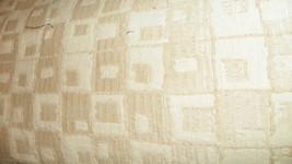 Beige Cream Geometric Print Jacquard Upholstery Fabric 1 Yard  R784 - $29.95