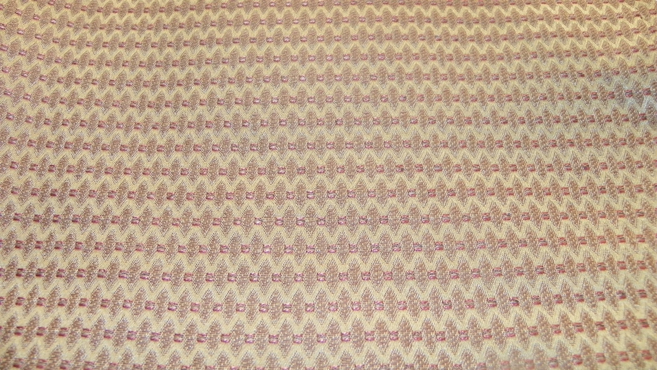 Brown Burgundy Flamestitch Damask Upholstery Fabric 1 Yard F753