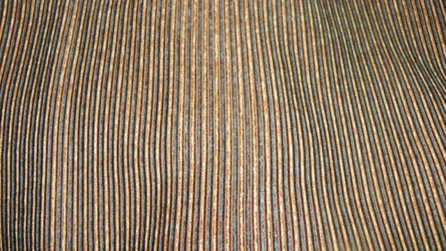 Brown Gold Stripe Chenille Print Upholstery Fabric 1 Yard  F788