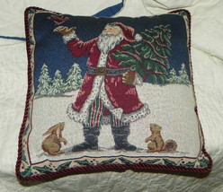 Burgundy Christmas Santa Throw Pillow - $22.45