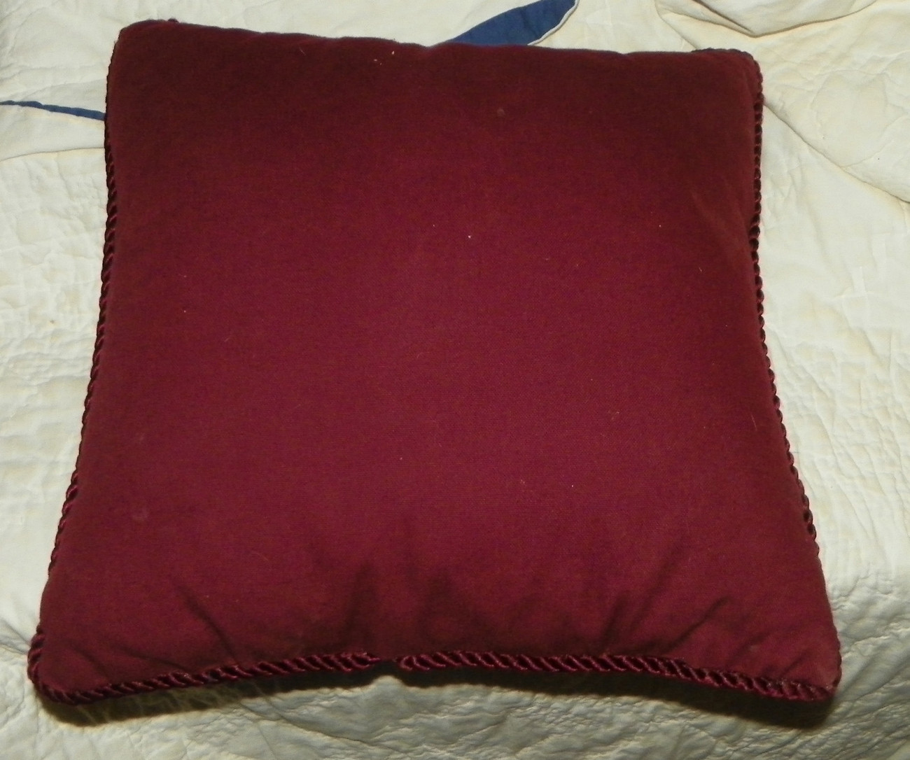 Burgundy Christmas Santa Throw Pillow