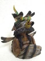 """Hopi Carved Milton Howard 7"""" Eagle Great Spirit Business Card Holder Scu... - $395.00"""
