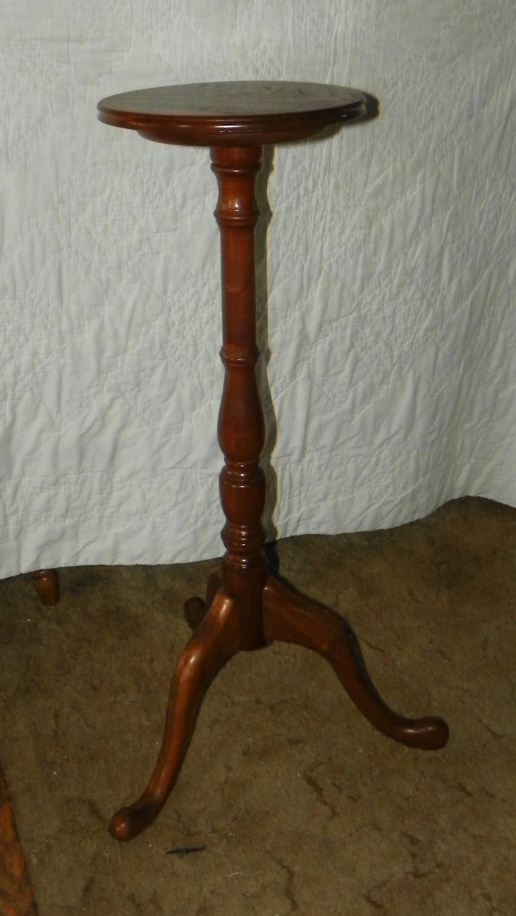Elegant Tall Solid Walnut Plant Stand
