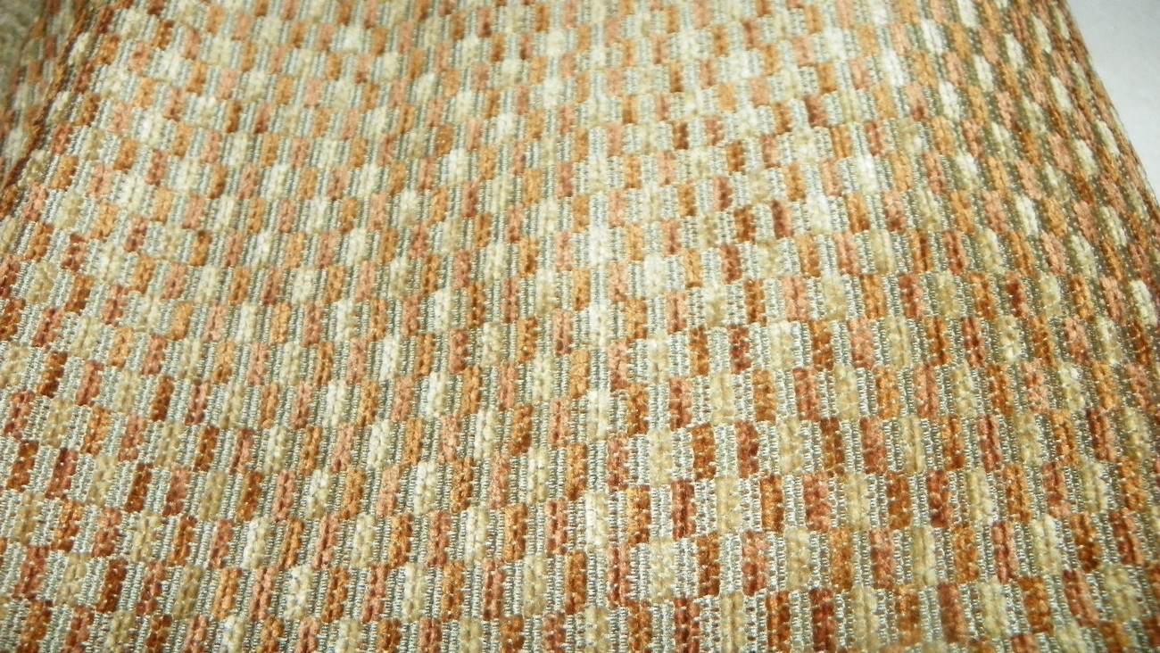 Green Brown Gold Hobnail Chenille Upholstery Fabric 1 Yard F745