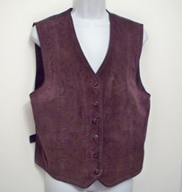 Marsh Landing Vest Sz M Leather Suede Brown Sle... - $29.74