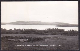 Weston Maine RPPC Eastern Grand Lake Photo Postcard #X2 - $10.75