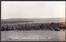 Eastern Grand Lake, Weston Maine RPPC Photo Postcard #2G - $10.75
