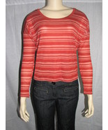 FOREVER 21 STRIPED KNIT TOP RUST SIZE LARGE - $14.99