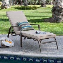 Chaise Lounge with Cushion - BL-PL03AK-3225 - P/U ONLY! - $212.85