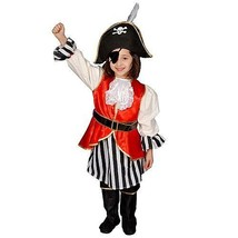 Dress Up America Deluxe Pirate Girl Children's Costume Set - Large 12-14... - £23.13 GBP