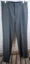 Express Design Dress/Career Pants Men's Producer Flat Front Gray 32x32 Wool - $44.55