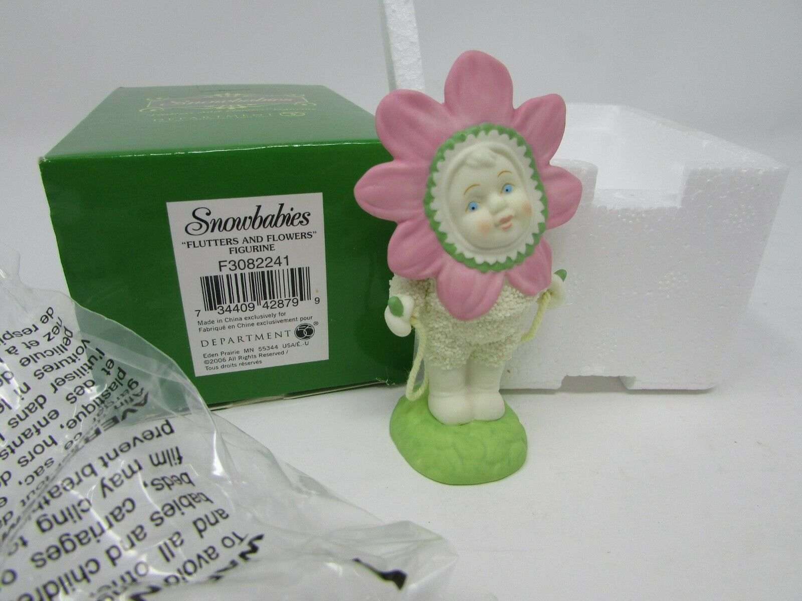 Primary image for DEPT 56 FLUTTERS AND FLOWERS FIGURINE NIB
