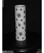 Beautiful Lefton Porcelain Bud Vase Purple Flowers - $9.94
