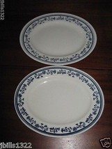 Homer Laughlin Best China, 2 - 9 Oval Lunch / Salad Plates J-81 USA - $14.95