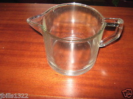 Clear Old Glass Pitcher Smooth On Sides Short - $7.95