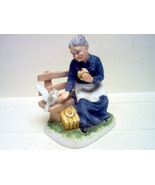 "LEFTON BISQUE FIGURINE ""PICNIC IN THE PARK"" - $29.00"