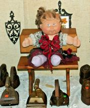 Cabbage Patch Doll sitting at a Large Wooden School Desk AA-191964  Collectible image 7