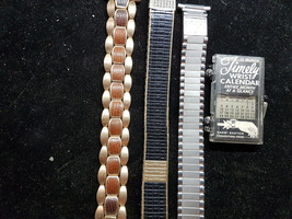VINTAGE LOT OF 3 1950'S AND 1967 WATCH BANDS FOR YOU TO USE FOR PARTS SP... - $140.29