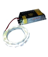 Kit: 25W Switching Power Supply + 4' LED Strip, Bright White, Ideal Retr... - $12.50