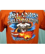 Harley-Davidson Orange T-Shirt XL Orlando, Florida - $20.00