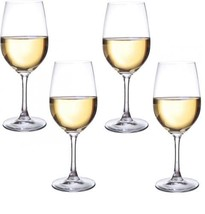 Circleware Uptown Glass Wine Glasses, Set of 4, Drinking Glassware for... - $15.65