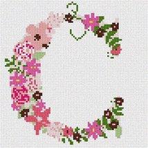 pepita The Letter C Flowering Needlepoint Canvas - $40.00
