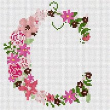 The Letter C Flowering (Large) Needlepoint Kit - $88.85
