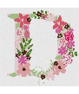 pepita The Letter D Flowering Needlepoint Canvas - $40.00