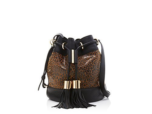 Primary image for see by chloe vicki leopard animal print bucket shoulder bag
