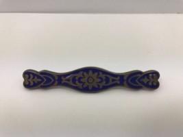Vintage Blue Enamel Bar Pin Brooch Vtg Estate C... - $17.99